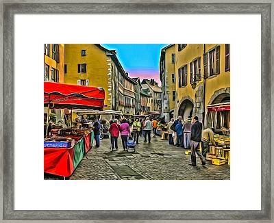 Tuesday Is Market Day Framed Print
