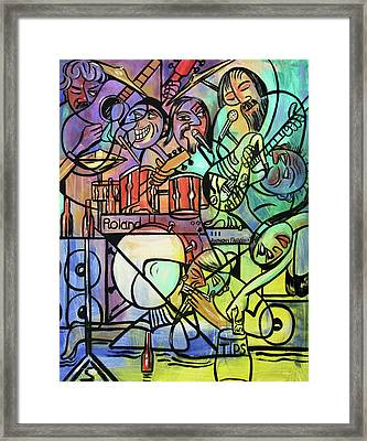 Tuesday Night Blues Jam Framed Print by Anthony Falbo
