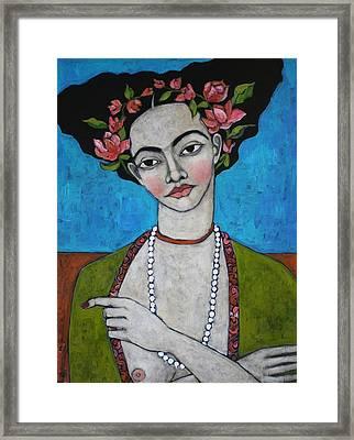 Tuesday's Portrait Framed Print by Jane Spakowsky