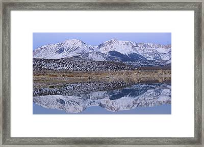 Tufa Dawn Winter Dreamscape Framed Print