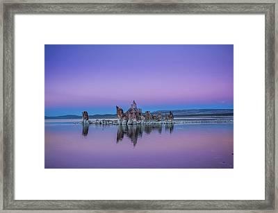 Tufa Island Framed Print by Ralph Vazquez