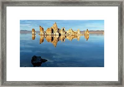 Tufa Reflection At Mono Lake Framed Print
