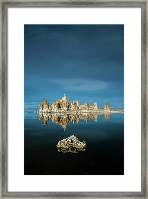 Tufa Reflections Framed Print by Joseph Smith