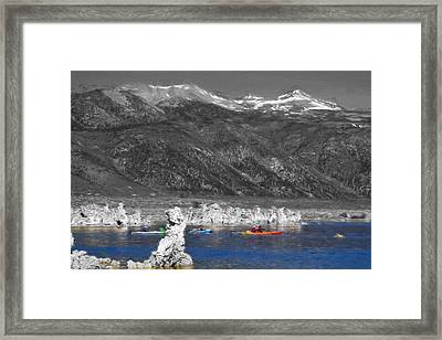 Tufa Towers At Mono Lake Framed Print by Donna Kennedy