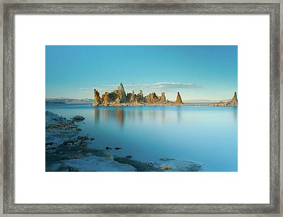Tufas In The Fall Framed Print