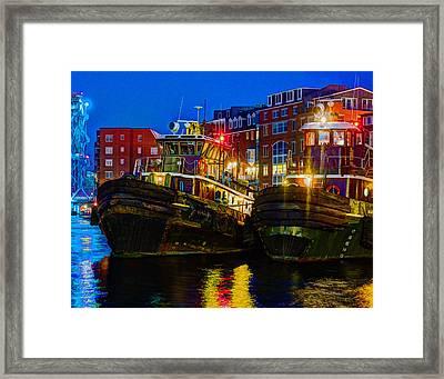 Tug Boat Alley 026 Framed Print