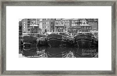 Tug Boat Alley Portsmouth New Hampshire Framed Print by Edward Fielding