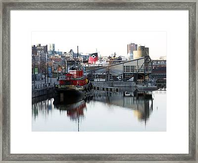 Tugboat 2 Framed Print by Robert Knight