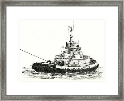 Tugboat Arthur Foss Framed Print by James Williamson