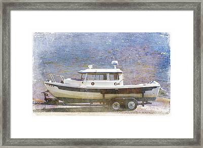 Tugboat Framed Print by Cynthia Powell