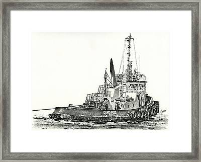 Tugboat David Foss Framed Print by James Williamson