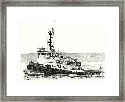 Tugboat Drew Foss Framed Print by James Williamson