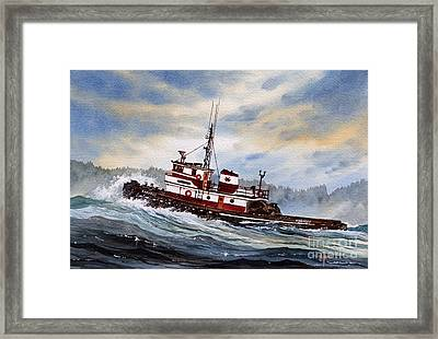 Tugboat Earnest Framed Print
