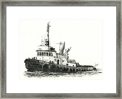 Tugboat Edith Foss Framed Print by James Williamson