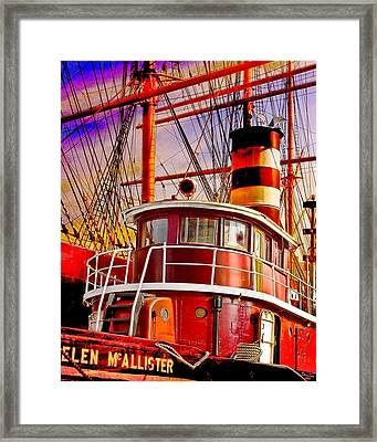 Tugboat Helen Mcallister Framed Print by Chris Lord