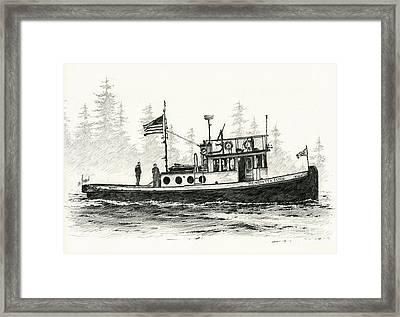 Tugboat Henrietta Foss Framed Print by James Williamson
