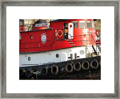 Tugboat Framed Print