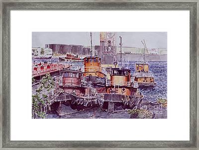 Tugboats Kill Van Kull Staten Island Framed Print
