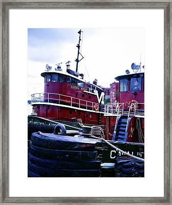 Tugboats - Portsmouth New Hampshire Framed Print