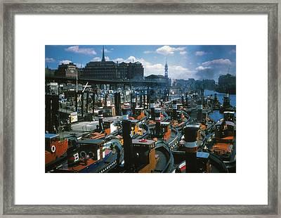 Tugs - Hamburg Framed Print