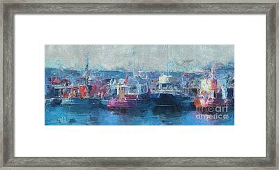 Tugs Together  Framed Print
