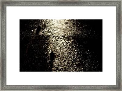Tugs Towing Log Boom 2  Framed Print by Lyle Crump