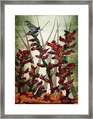 Tui In Flax Framed Print
