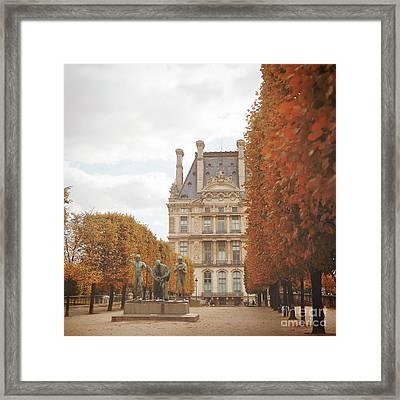 Tuileries Garden In Fall Framed Print