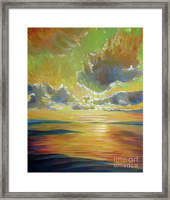 Tule Filtered Sky Framed Print by Vanessa Hadady BFA MA