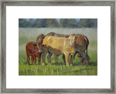 Tuli Family Framed Print by Christopher Reid
