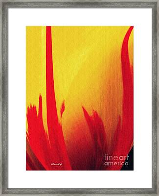 Tulip Abstract 1 Framed Print