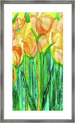 Tulip Bloomies 2 - Yellow Framed Print