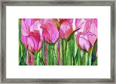 Tulip Bloomies 3 - Pink Framed Print