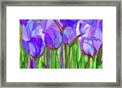 Tulip Bloomies 3 - Purple Framed Print