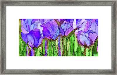 Tulip Bloomies 4 - Purple Framed Print