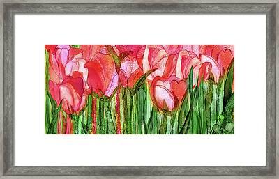 Tulip Bloomies 4 - Red Framed Print