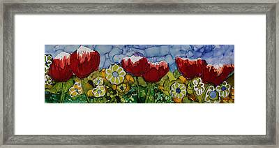 Tulip Bonanza Framed Print by Suzanne Canner