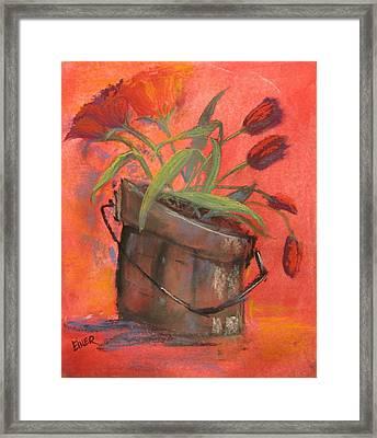 Tulip Bucket Framed Print