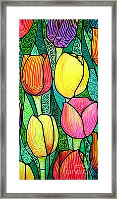 Framed Print featuring the painting Tulip Expo by Jim Harris