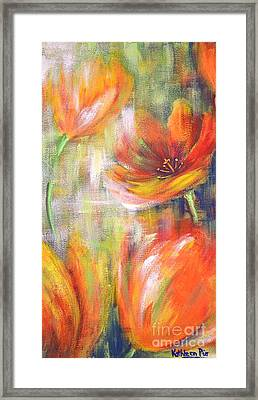 Tulip Freedom Framed Print