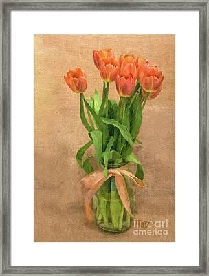 Tulip Impasto Framed Print
