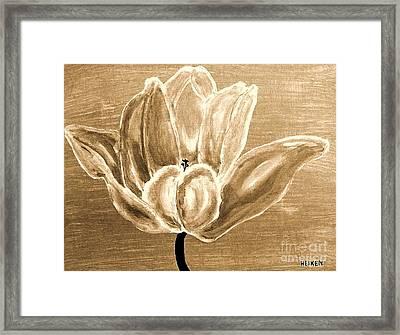 Tulip In Brown Tones Framed Print