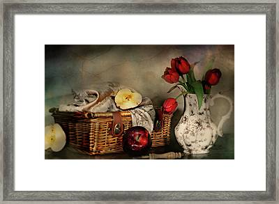 Basket And All Framed Print by Diana Angstadt