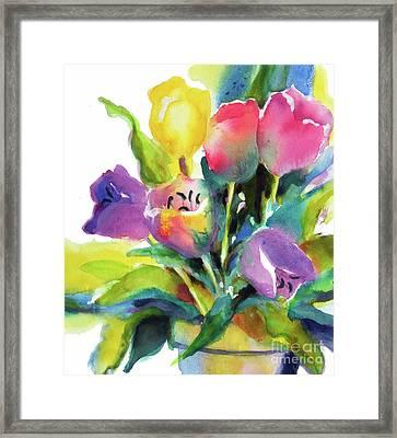 Tulip Pot Framed Print