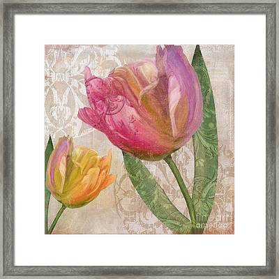 Tulip Tempest II Framed Print by Mindy Sommers