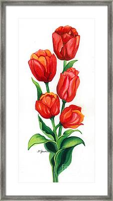 Tulip Time Framed Print by Barbara Jewell