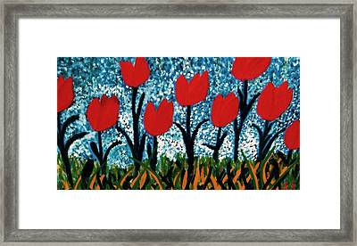 Framed Print featuring the painting Tulip Time by John Scates