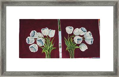 Tulips 11 And 12 Framed Print
