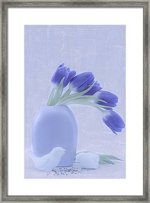 Tulips And Birdies  Framed Print