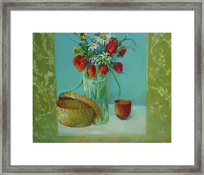 Tulips And Daisies               Copyrighted Framed Print by Kathleen Hoekstra